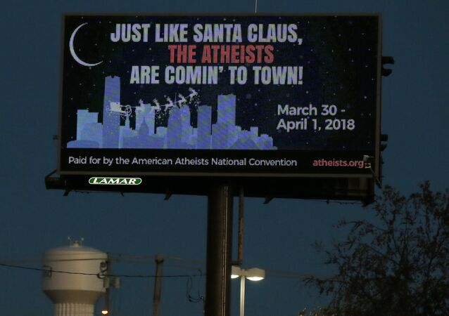 A billboard is pictured in Edmond, Okla, Wednesday, Dec. 6, 2017.