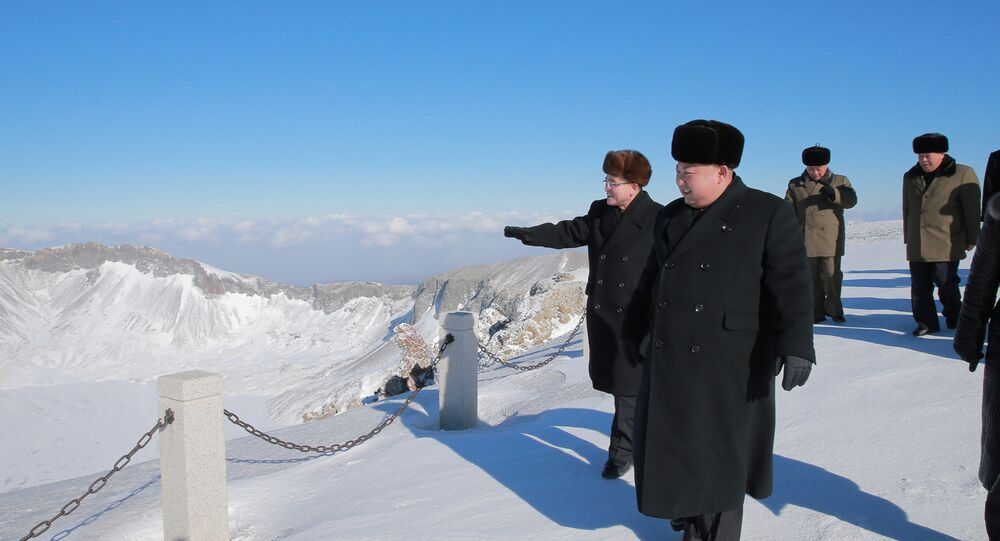 North Korean leader Kim Jong Un visits Mount Paektu in this photo released by North Korea's Korean Central News Agency (KCNA) in Pyongyang December 9, 2017