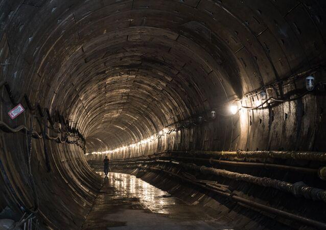 Construction of Khodynskoye Pole metro station