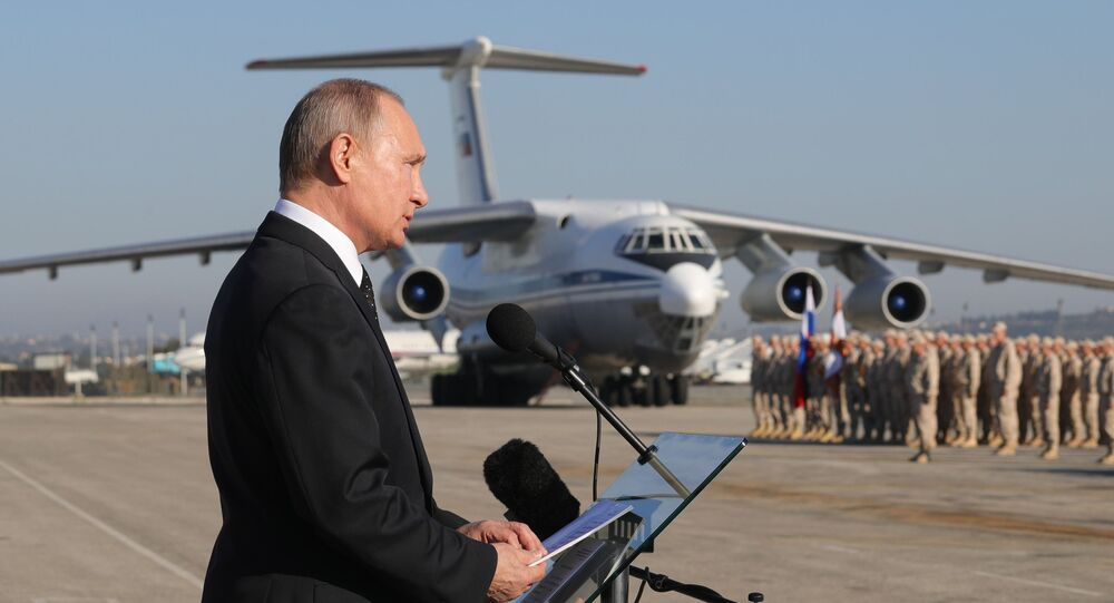 President Vladimir Putin visits Khmeimim Air Base in Syria