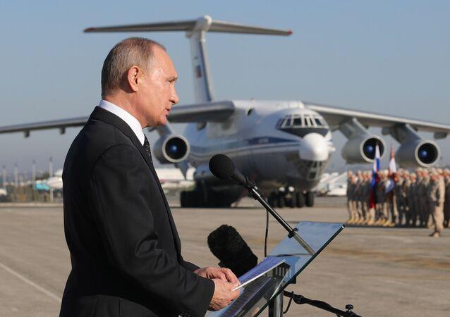 President Vladimir Putin visits Hmeymim Air Base in Syria