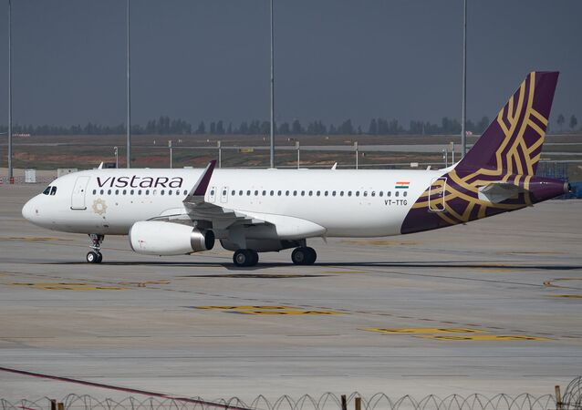 Vistara Airbus A320 registered VT-TTG at Kempegowda Intl Airport Bangalore