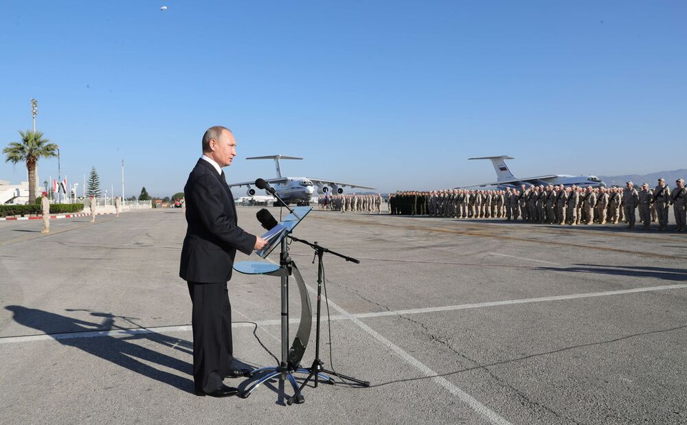 Vladimir Putin's Surprise Visit to Hmeymin Airbase Amid Victory Over Daesh