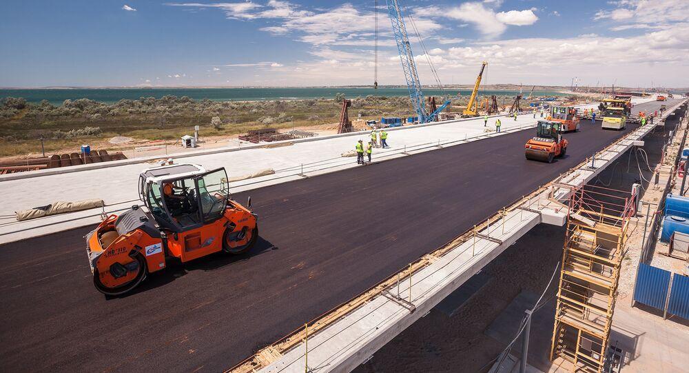Crimean Bridge construction