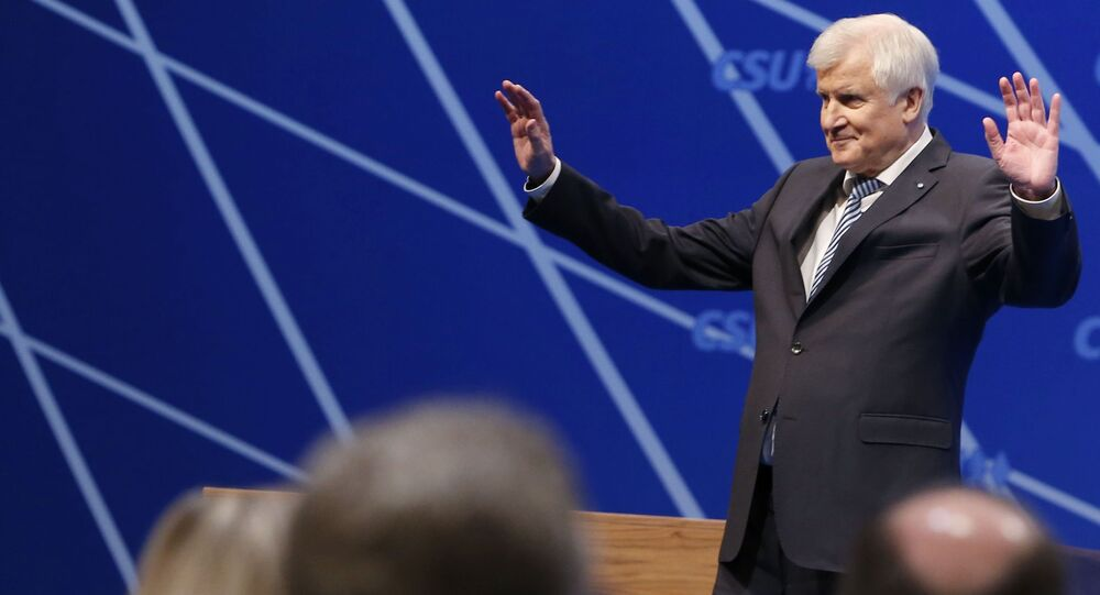 Outgoing Bavarian State Premier and head of the Christian Social Union (CSU) Horst Seehofer acknowledges the applause after his speech during the Christian Social Union (CSU) party congress in Nuremberg, Germany, December 16, 2017