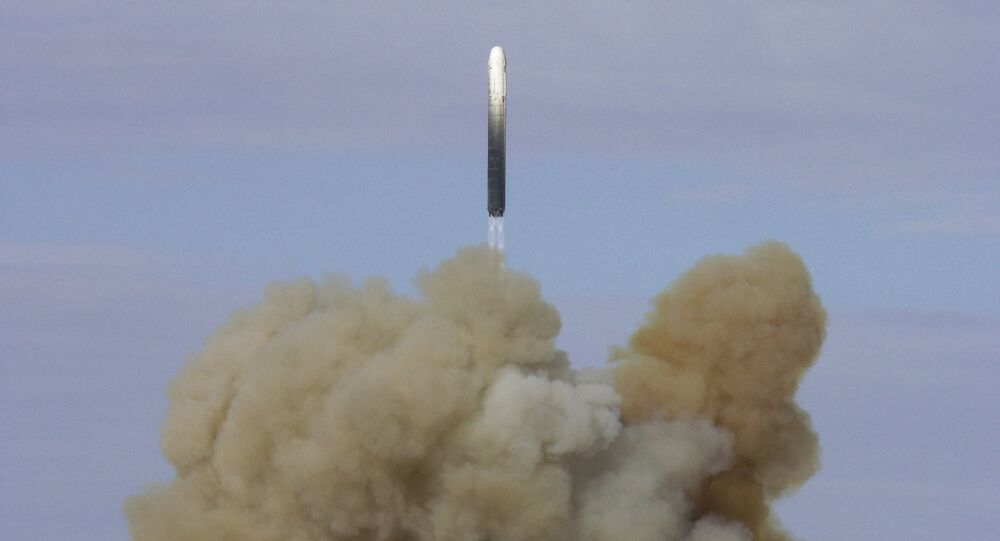 RS 18 ballistic missile successfully launched from the Baikonur space center