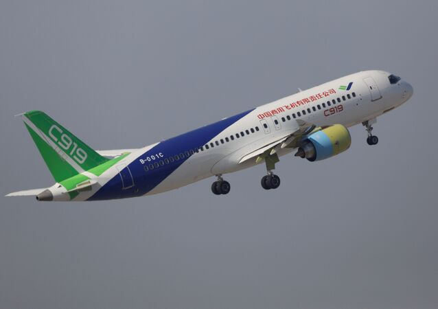The second prototype of China's home-built C919 passenger jet takes off for a test flight in Shanghai, China December 17, 2017
