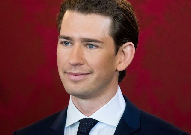 Head of the Austrian People's Party and new appointed Austrian Chancellor Sebastian Kurz attends the swearing-in ceremony of the new Austrian government in Vienna