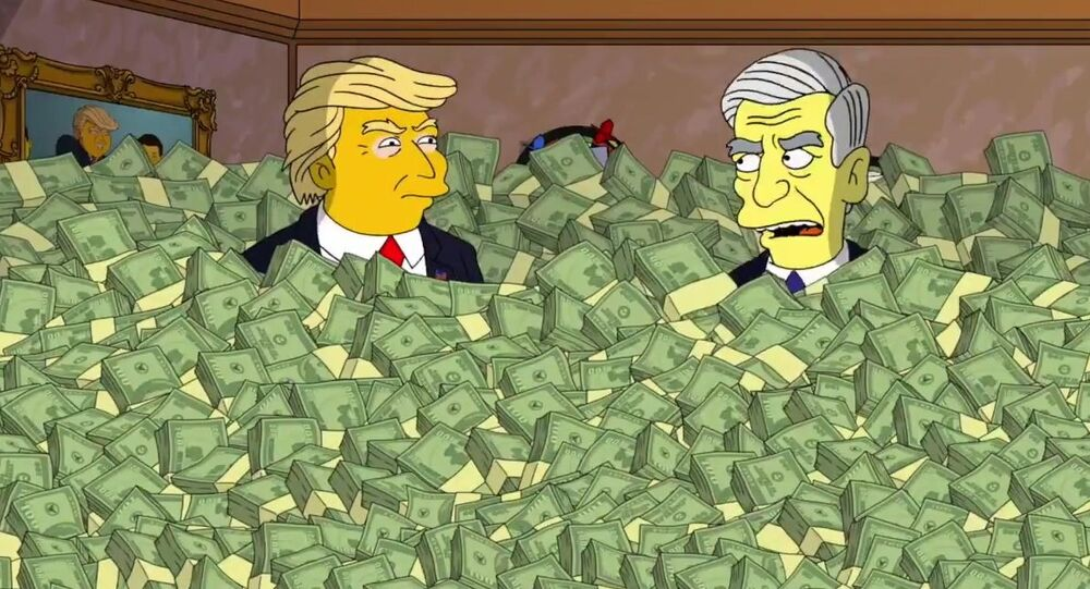 The Simpsons - Robert Mueller meets with President Donald Trum