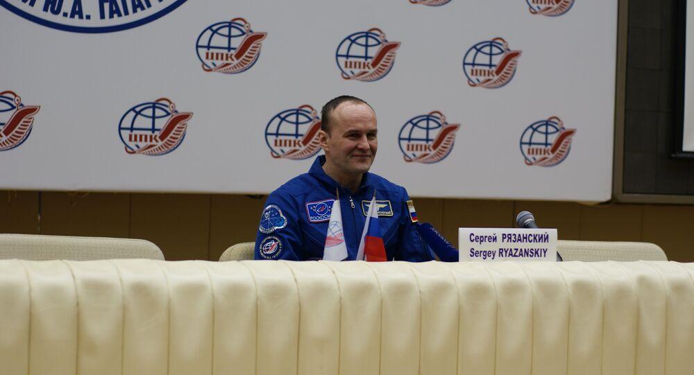 Russian ISS cosmonaut Sergey Ryazansky