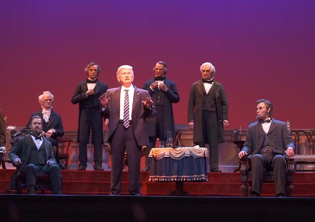 Disney unveils animatronic of President Donald Trump in its Hall of Presidents exhibit in Orlando, Florida