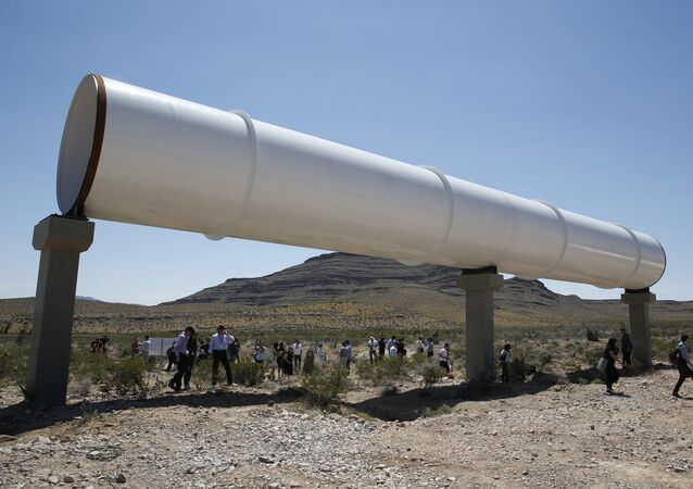 People tour the site after a test of a Hyperloop One propulsion system in North Las Vegas, Nev. (File)
