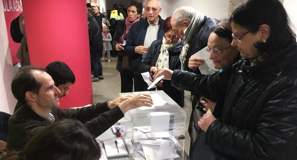 People in Barcelona vote in the 2017 Catalan regional election