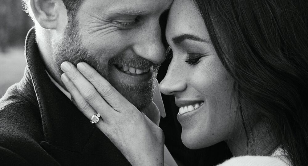 One of two official engagement photos released on December 21, 2017 by Kensington Palace of Prince Harry and Meghan Markle taken by Alexi Lubomirski at Frogmore House in Windsor, Britain. Picture taken in the week commencing December 17, 2017