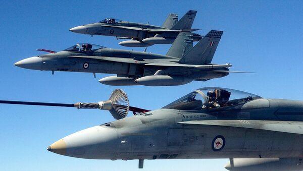 (File) Australian Air Force (RAAF) F/A-18 Hornet fighter jets - Sputnik International