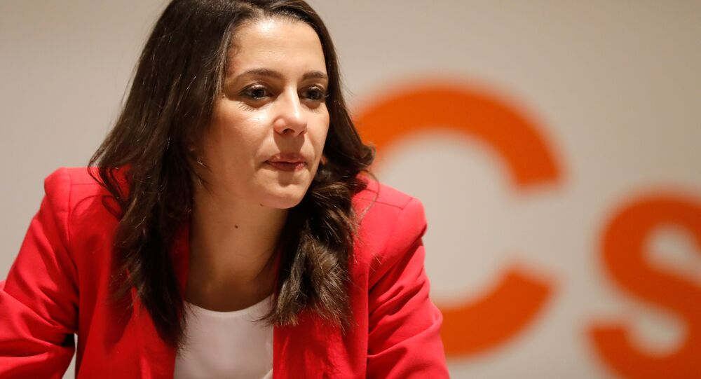 Ines Arrimadas, leader of Ciudadanos in Catalonia attends a meeting of her party's leadership in Barcelona, Spain, December 22, 2017