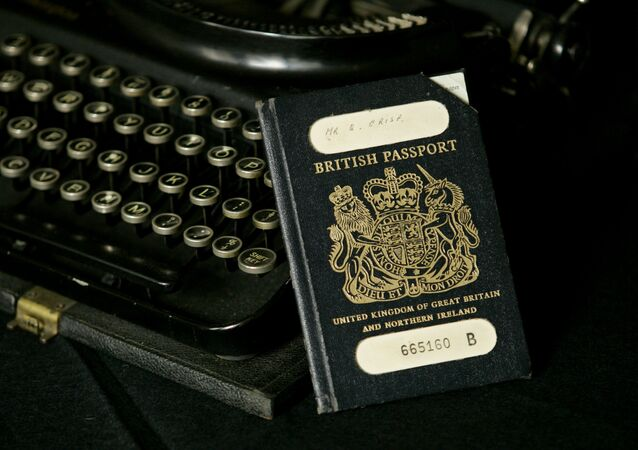 The traditional British passport.