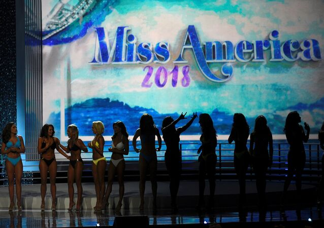 Contestants await the results after competing in the swimsuit component of the 97th Miss America Competition in Atlantic City, New Jersey, U.S., September 10, 2017
