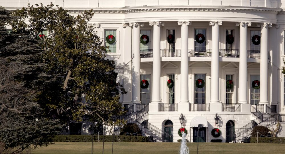 A large portion of a famed Magnolia tree, at left, photographed from the Ellipse in Washington, Tuesday, Dec. 26, 2017 and planted on the south grounds of the White House by President Andrew Jackson in 1835 has become too weak to remain standing