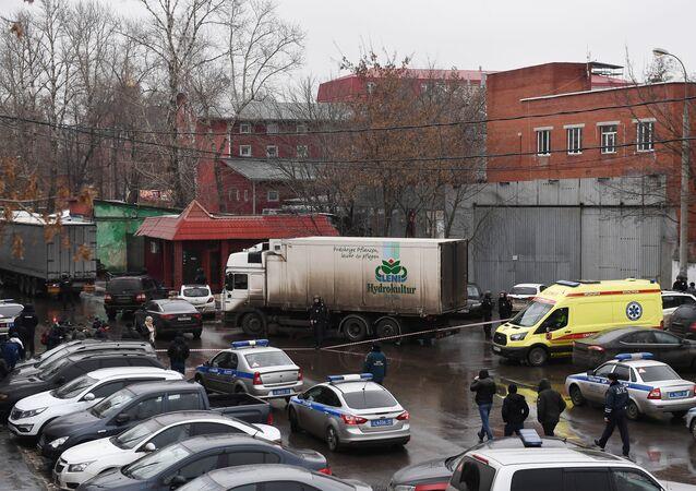 Situation on Ilovaiskaya street in Moscow