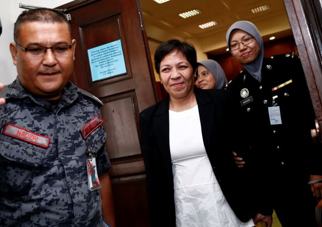 Australian Maria Elvira Pinto Exposto leaves following her release at the High Court in Shah Alam, outside Kuala Lumpur, Malaysia December 27, 2017