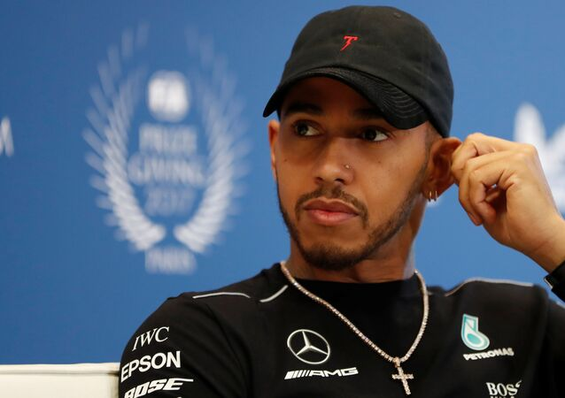 Mercedes' Formula One driver Lewis Hamilton attends the FIA Champions news conference for FIA Prize Giving 2017 in Paris, France December 8, 2017