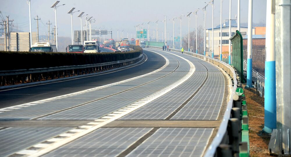 A solar panel expressway is seen before its opening in Jinan, Shandong province, China December 28, 2017