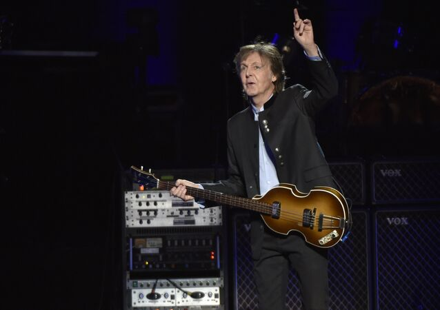 Paul McCartney performs on the One on One Tour at the Hollywood Casino Amphitheatre on Wednesday, July 26, 2017, in Tinley Park, IL.
