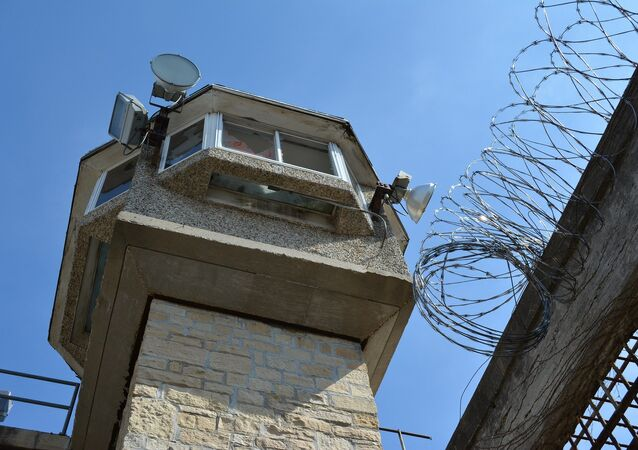 Guard tower in prison