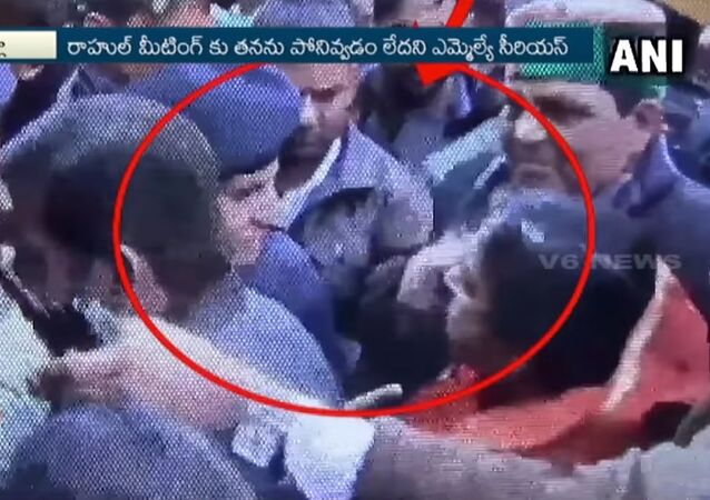 A viral video of an Indian politician slapping a policewoman and getting slapped back in return has become a new hit with amused netizens sharing the video on various web platforms and making some side-splitting comments