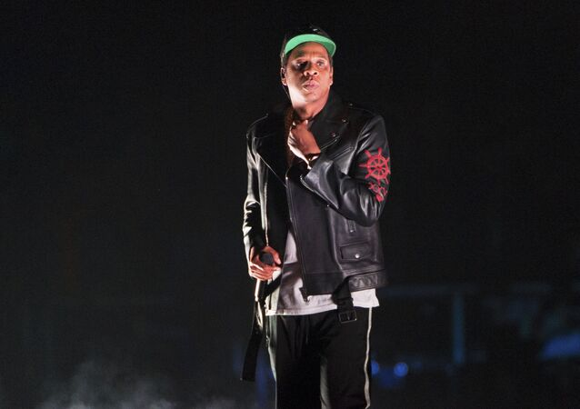 Jay-Z performs on the 4:44 Tour at Barclays Center on Sunday, Nov. 26, 2017, in Brooklyn, New York