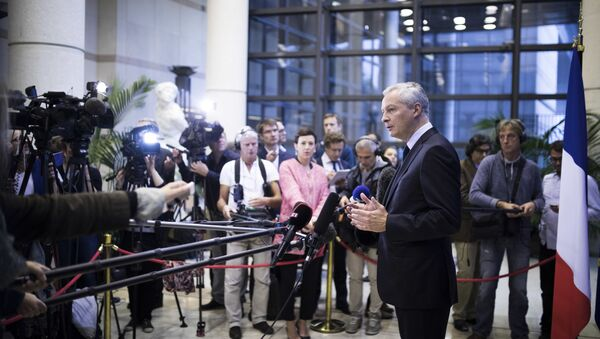 French Economy Minister Bruno Le Maire gives a press conference at Bercy Economy ministry in Paris (File) - Sputnik International