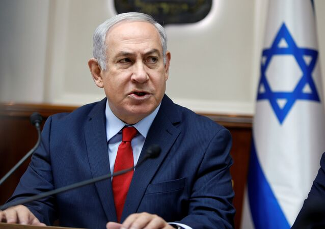 Israeli Prime Minister Benjamin Netanyahu attends the weekly cabinet meeting at the Prime Minister's office in Jerusalem December 31, 2017