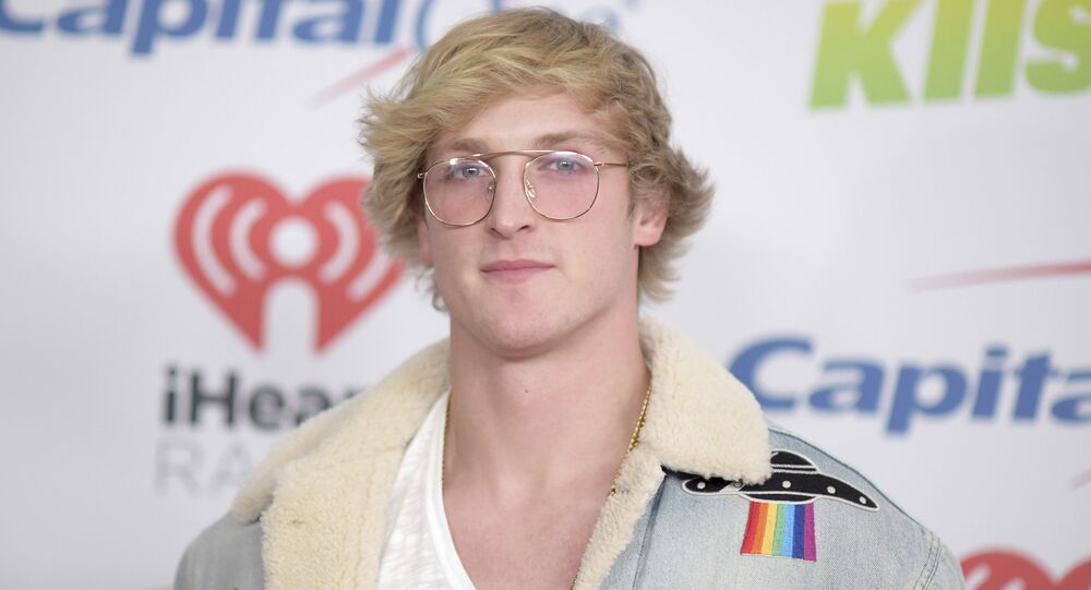 Logan Paul arrives at Jingle Ball at The Forum on Friday, Dec. 1, 2017, in Inglewood, Calif.