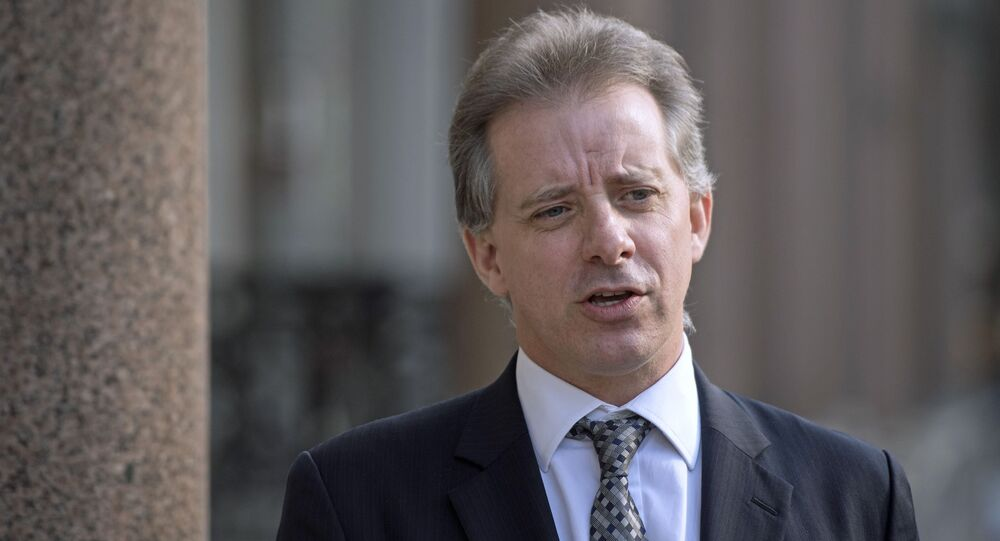Christopher Steele, former British intelligence officer in London Tuesday March 7, 2017 where he has spoken to the media for the first time . Steele who compiled an explosive and unproven dossier on President Donald Trump's purported activities in Russia has returned to work