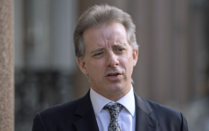 Christopher Steele, former British intelligence officer in London on 7 March 2017, where he spoke to the media for the first time. Steele, who compiled an explosive and unproven dossier on President Donald Trump's purported activities in Russia, has returned to work.