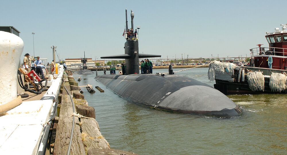 The Los Angeles class attack submarine USS Jacksonville (SSN 699) departs from Pier 3 at Naval Station Norfolk for a scheduled deployment
