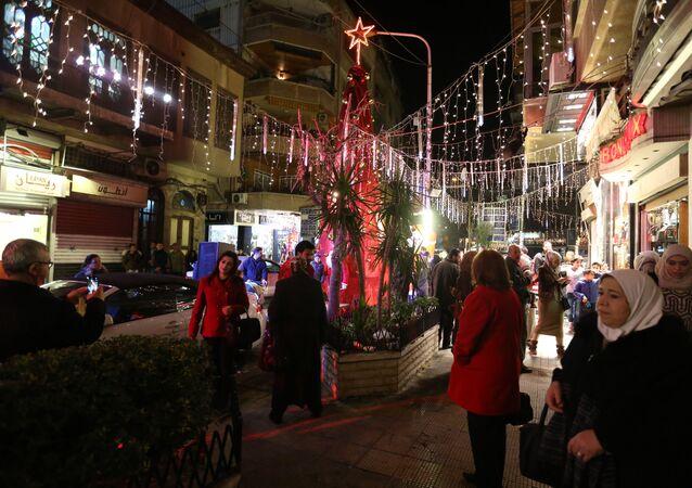 Christmas festivities in Damascus