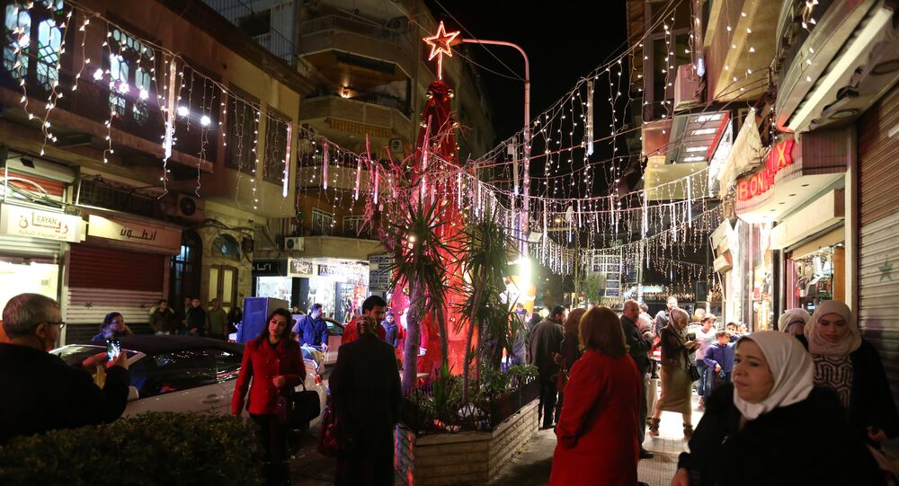 Christmas festivities in Damascus