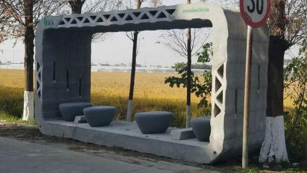 A 3D printed bus stop in China - Sputnik International