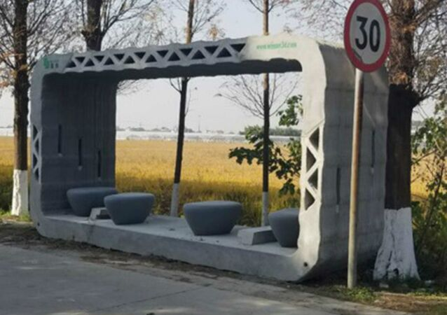A 3D printed bus stop in China