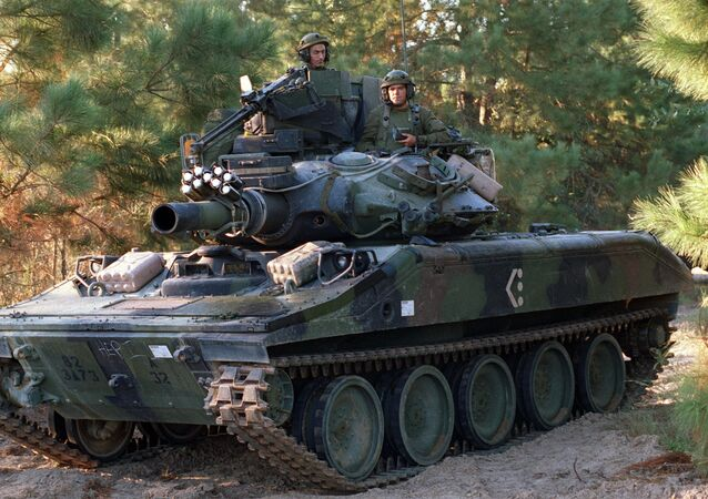M551A1 Sheridan light tank