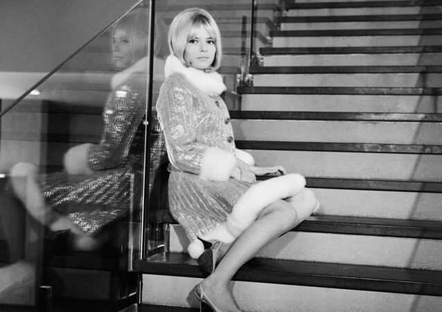 Photo taken on Cecember 1, 1965 shows French singer France Gall during the recording of the television program Soft France
