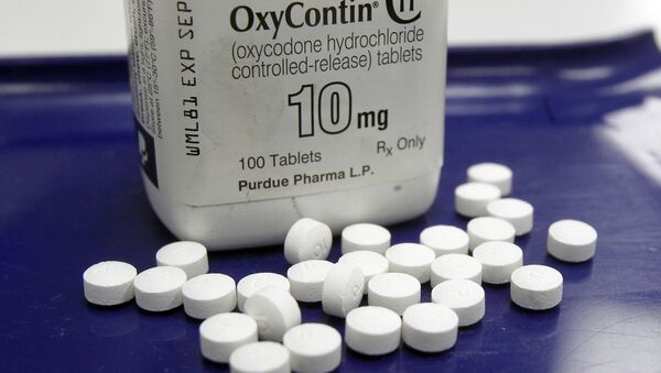 OxyContin pills arranged for a photo at a pharmacy in Montpelier, Vermont - Sputnik International