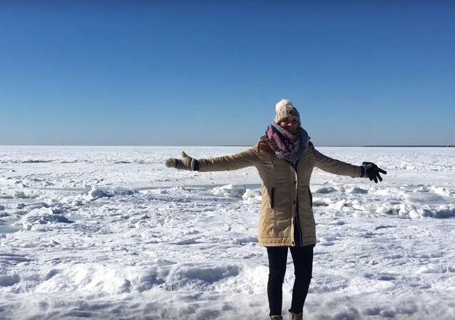 Whole ocean is frozen, INSANE!