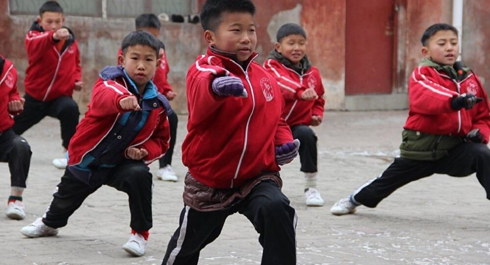 Школа боевых искусств Shaolin Tagou в провинции Хэнань. Январь 2018 год