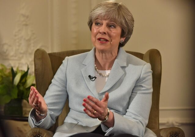 Britain's Prime Minister Theresa May speaks on the BBC's Andrew Marr Show, in this photograph received via the BBC, in her Maidenhead constituency in Britain January 6, 2018