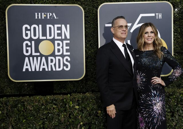 75th Golden Globe Awards – Arrivals – Beverly Hills, California, U.S., 07/01/2018 – Actors Tom Hanks and Rita Wilson