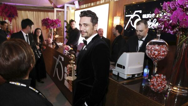 James Franco is seen at the Golden Globes Official After Party sponsored by Lindt Chocolate on Sunday, Jan. 7, 2018 in Beverly Hills, Calif - Sputnik International