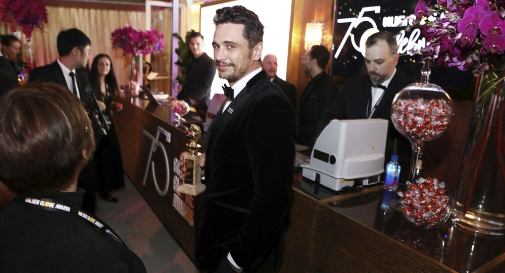 James Franco is seen at the Golden Globes Official After Party sponsored by Lindt Chocolate on Sunday, Jan. 7, 2018 in Beverly Hills, Calif